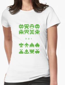 Old Game Space War Womens Fitted T-Shirt