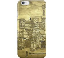 A digital painting of Bootham Gate and York Minster, Yorkshire, England iPhone Case/Skin