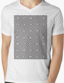 seamless patterns Black white Mens V-Neck T-Shirt