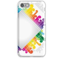 colorful abstract urban design iPhone Case/Skin