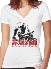 Fullmetal Alchemist Vector, Anime Women's Fitted V-Neck T-Shirt