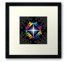 colorful abstract urban design Framed Print