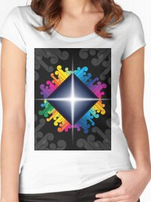 colorful abstract urban design Women's Fitted Scoop T-Shirt