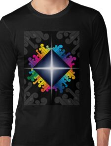 colorful abstract urban design Long Sleeve T-Shirt