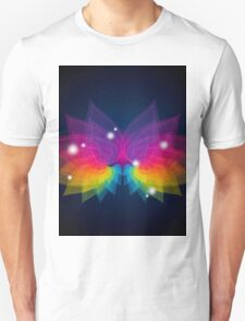 colorful abstract on butterfly shape T-Shirt