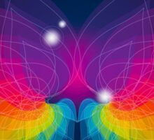 colorful abstract on butterfly shape Sticker