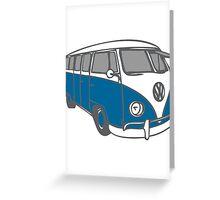 volkswagen T1 blue Greeting Card