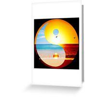 yin and yang ocean  Greeting Card