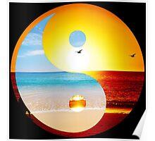 yin and yang ocean  Poster