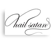 hail satan elegantly Canvas Print