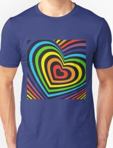 Rainbow heart 3d  T-Shirt