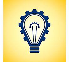 engineering bulb idea Photographic Print