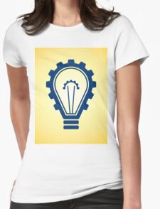 engineering bulb idea Womens Fitted T-Shirt