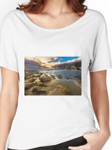 Golden hour at Cala del Morro Blanc Women's Relaxed Fit T-Shirt