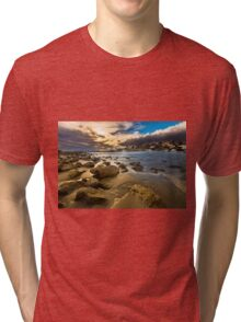 Golden hour at Cala del Morro Blanc Tri-blend T-Shirt