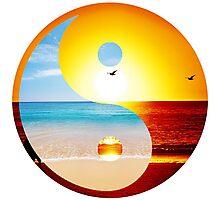 yin and yang-ocean  Photographic Print