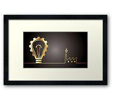 environmental bulb idea Framed Print