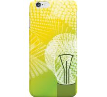 halftone bulb idea iPhone Case/Skin