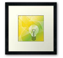 halftone bulb idea Framed Print