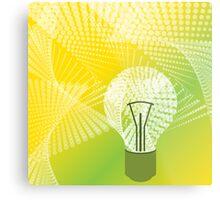 halftone bulb idea Metal Print