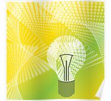 halftone bulb idea Poster