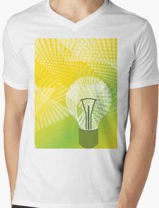 halftone bulb idea Mens V-Neck T-Shirt