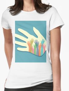 Large group of happy hands T-Shirt