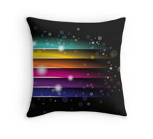 colorful abstract on black background Throw Pillow