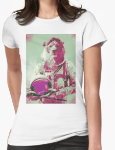 Space lion Womens Fitted T-Shirt