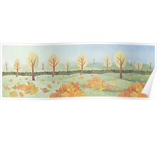 The autumn in the garden Poster