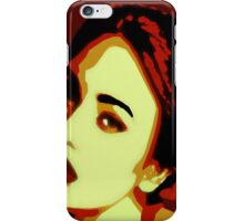 The woman with skeptical look iPhone Case/Skin