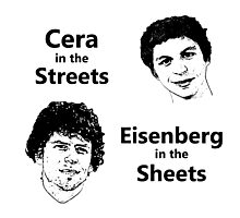 Cera in the Streets, Eisenberg in the Sheets Photographic Print