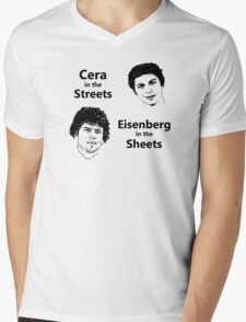 Cera in the Streets, Eisenberg in the Sheets Mens V-Neck T-Shirt