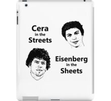 Cera in the Streets, Eisenberg in the Sheets iPad Case/Skin