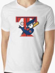 TORONTO BLUE JAYS BASIC LOGO Mens V-Neck T-Shirt