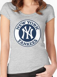 NEW YORK YANKEES LOGO Women's Fitted Scoop T-Shirt