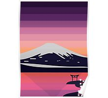 Sunset in Japan Poster