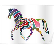 Artistic Colourful Horse Poster