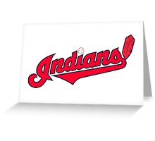 INDIANS BASEBALL TEAM Greeting Card