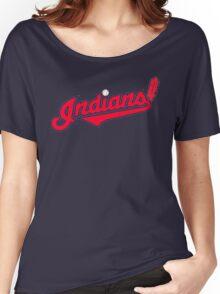 INDIANS BASEBALL TEAM Women's Relaxed Fit T-Shirt