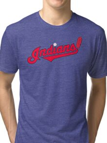 INDIANS BASEBALL TEAM Tri-blend T-Shirt