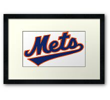 NY METS SIMPLE LOGO Framed Print