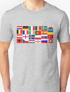 2016 Football country flags pattern Unisex T-Shirt