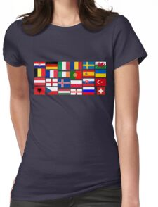 2016 Football country flags pattern Womens Fitted T-Shirt