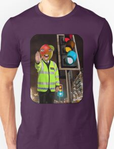 Mango Head Traffic Cop Unisex T-Shirt