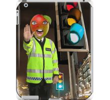 Mango Head Traffic Cop iPad Case/Skin