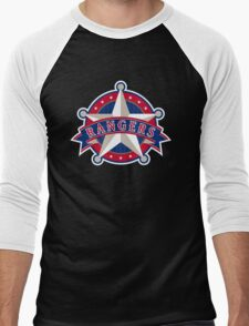 TEXAS RANGERS LOGO Men's Baseball ¾ T-Shirt