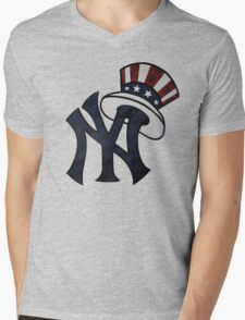 NEW YANKEES LOGO Mens V-Neck T-Shirt