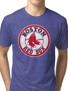 BOSTON RED SOX BASIC LOGO Tri-blend T-Shirt
