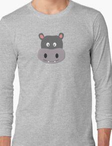 cute hippo Long Sleeve T-Shirt